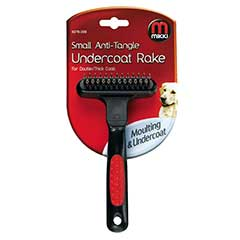 Pet Planet - Mikki Rotating Contour Undercoat Rake Double Tooth