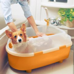 Iris Dog Bath Tub From Pet Planet Is The Perfect Way To Wash A Small Or Medium Featuring Shower Hair Dryer Holder This Makes It